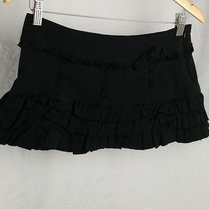 Urban Behavior Black Ruffle Mini Skirt Size M